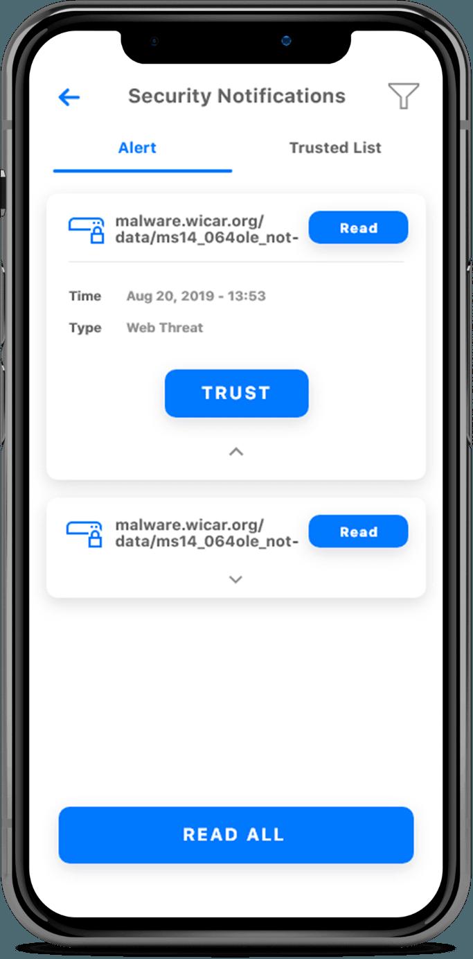 ProtectIQ Screen